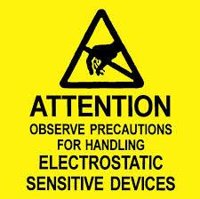ESD warning sticker