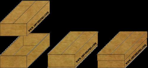 Telescope-half-slitted-carton